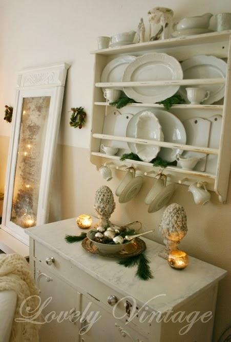 lovely vintage ein wenig weihnachten um im shabby chic bauernhaus. Black Bedroom Furniture Sets. Home Design Ideas