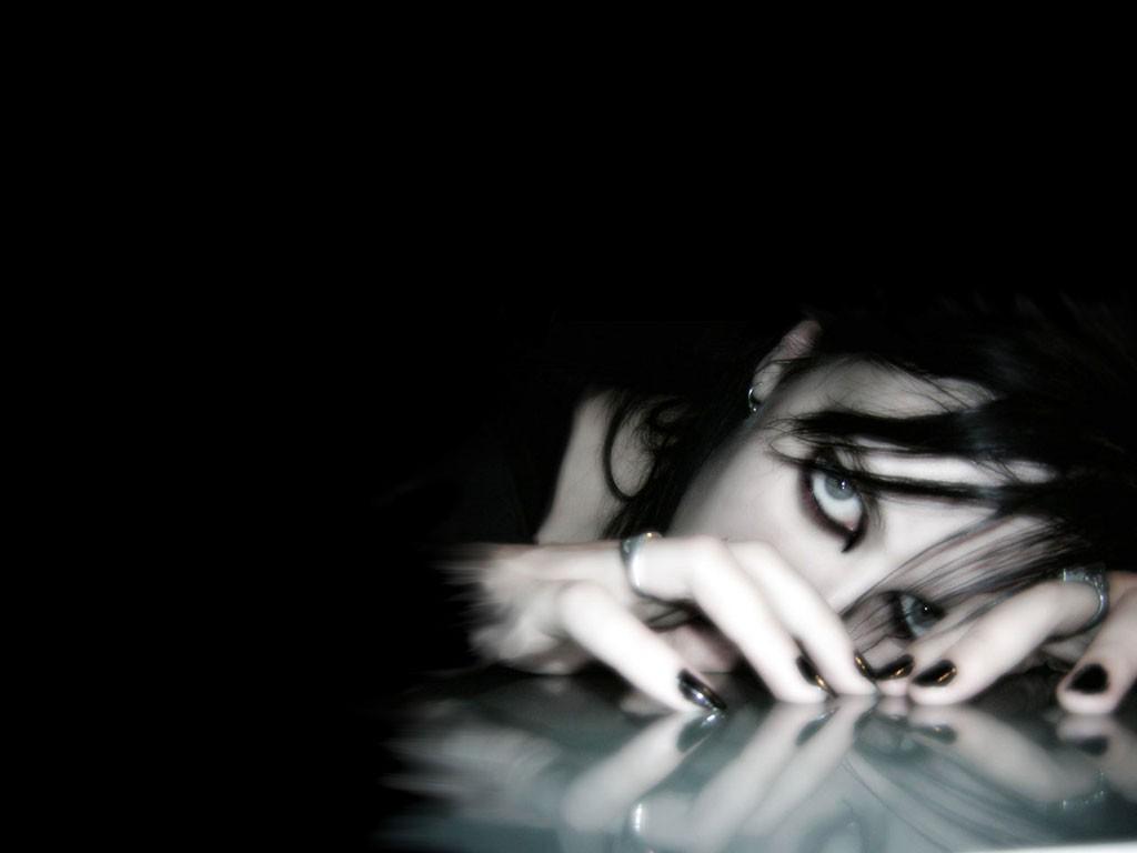 girl on dark wallpaper - photo #14