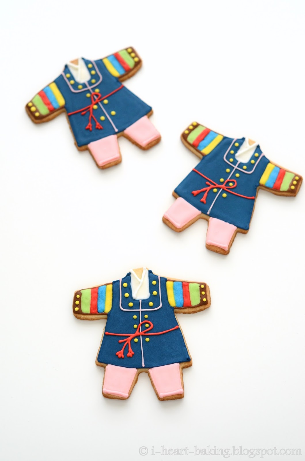 I Heart Baking Korean Hanbok Cookies For A Baby First Birthday