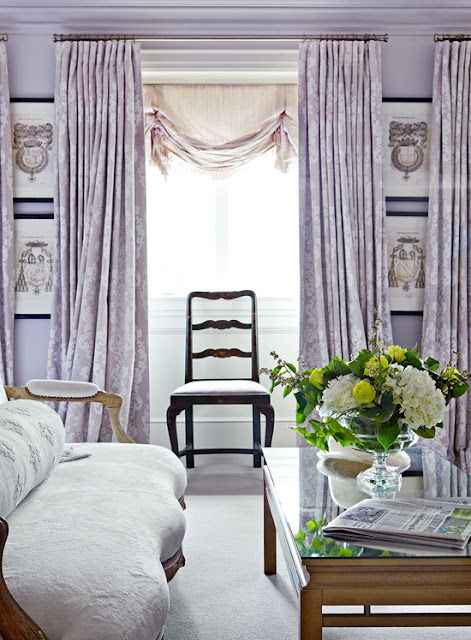 Lavender Window Treatments for Bedroom