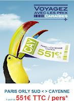 Banniere Air Caraibes ( Billets Cayenne à  551 euros)