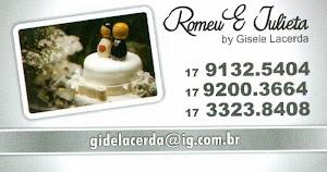 Romeu & Julieta - Topos de bolo Personalizados