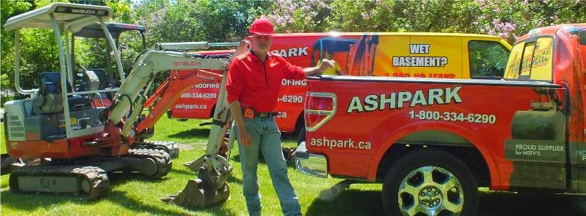 Ashpark Basement Waterproofing Contractors Ontario dial 1-800-334-6290