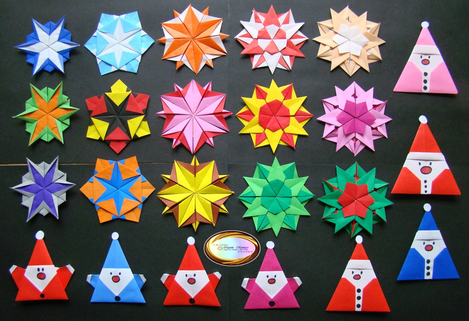 Christmas Decorations To Make In Maths : Origami maniacs different kinds of snowflakes