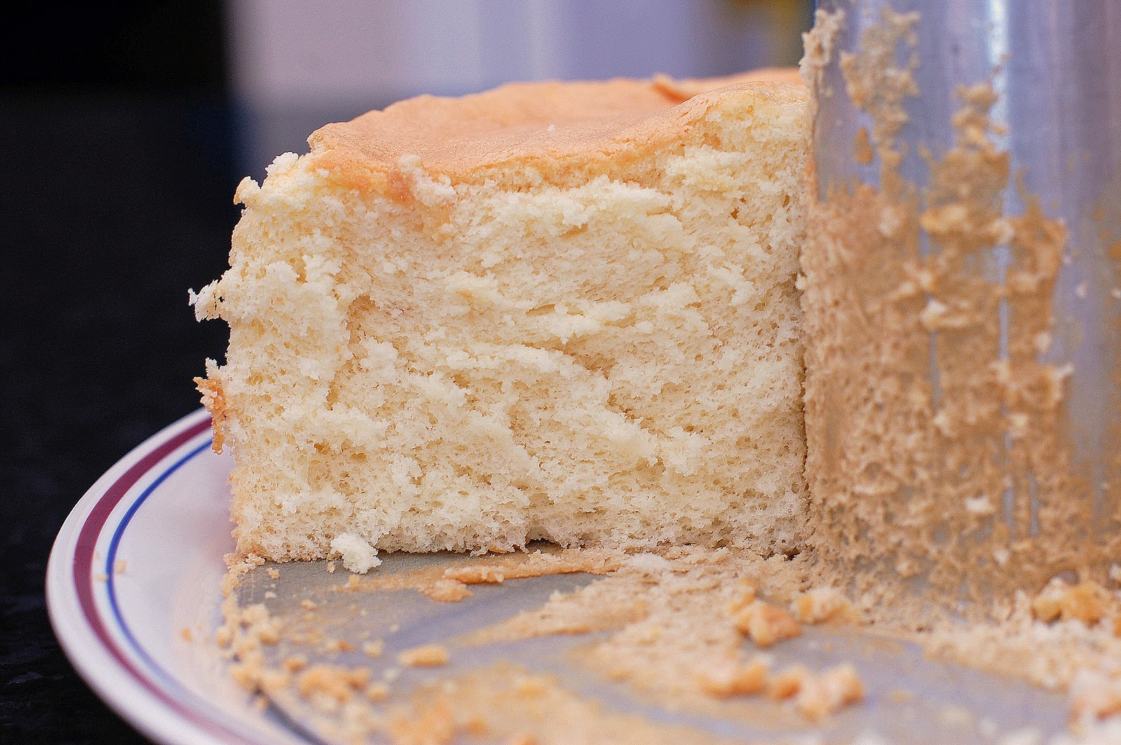 decided to make a gluten-free vanilla chiffon sponge cake. It was a ...