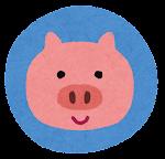 動物のマーク「豚」