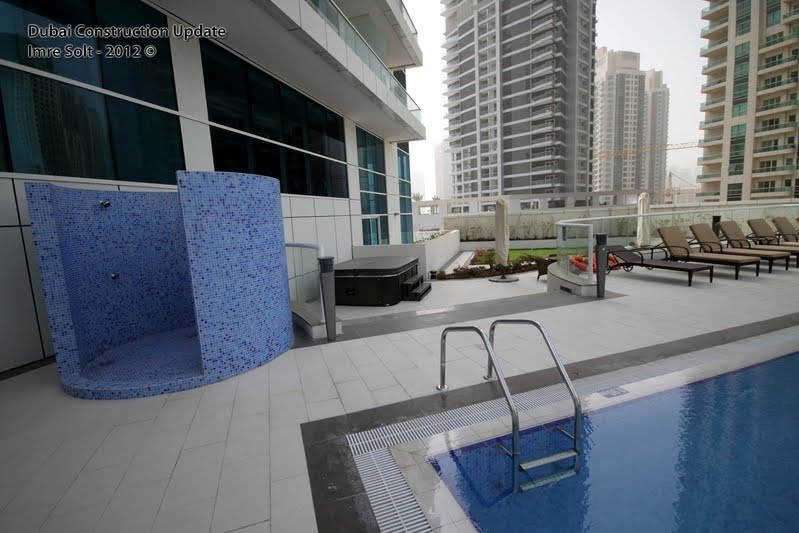 Dubai constructions update by imre solt botanica tower The address dubai marina swimming pool