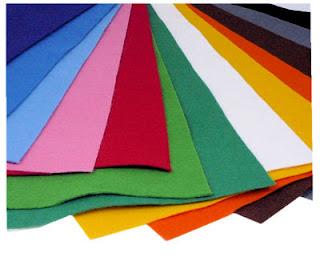 kolorowy filc w dużych arkuszach