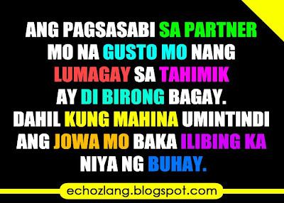 Kung mahina umintindi ang jowa mo baka ilibing ka niya ng buhay.