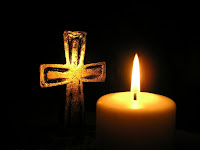 Good Friday, cross, crucifixion, candle, dark cross