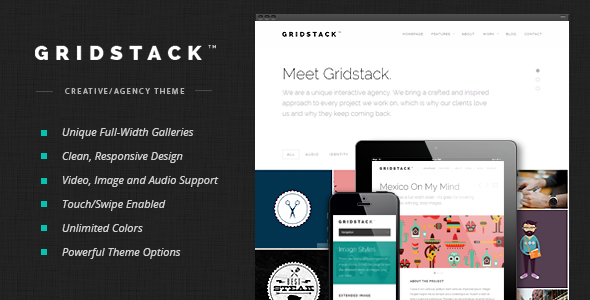 Free Download GridStack V1.3.0 Responsive Agency WordPress Theme