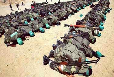 Briged Al-Qassam Gaza Palestine Solat Berjemaah
