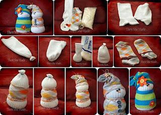 Muñecos de Nieve para Navidad con Medias y Arroz, Manualidades Paso a Paso