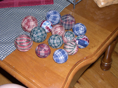 Fabric Balls on Table