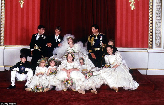 Royal Wedding Pictures: Charles-Diana Wedding Party