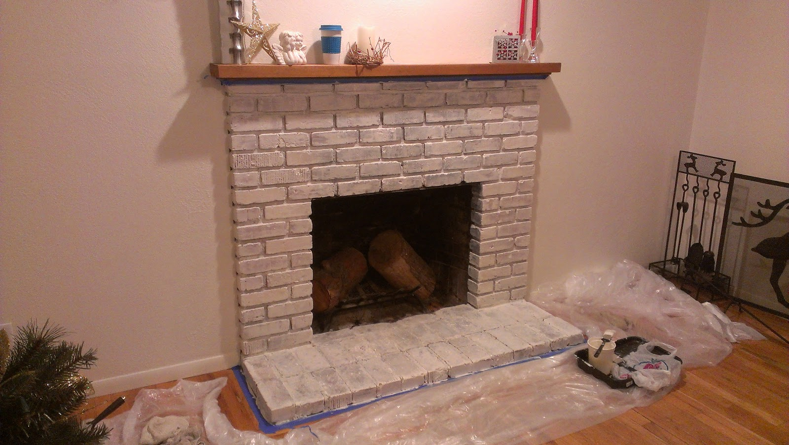 Sweet Malihsa How To Whitewash A Brick Fireplace