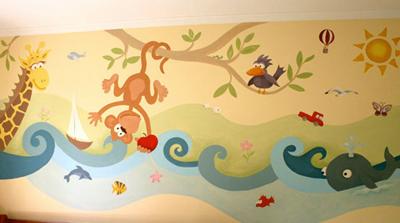 Decopared murales infantiles decopared - Paredes infantiles pintadas ...
