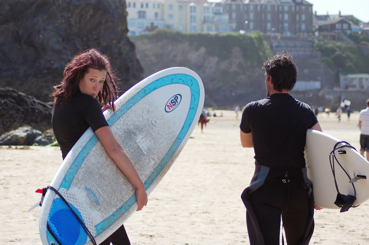 Learning to surf Newquay
