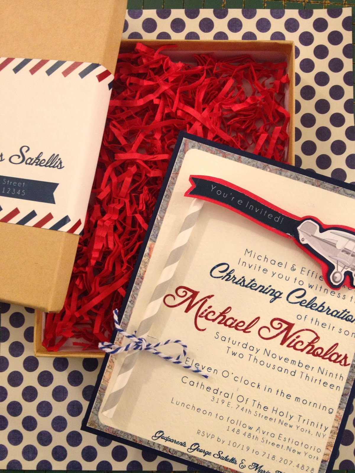 Meghan Henry Designs: Mikey\'s Vintage Airplane Christening
