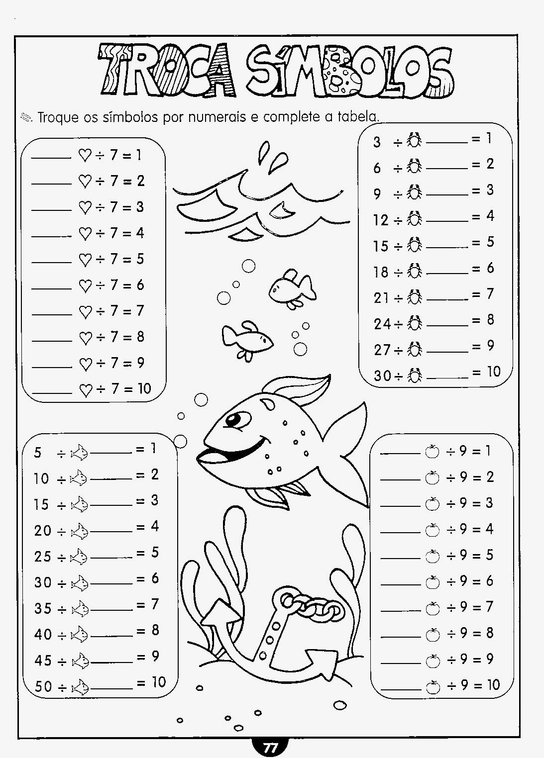 Atividades educativas de matemática 2 ano