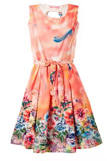 Sommer Kleider mit Blumen Muster online