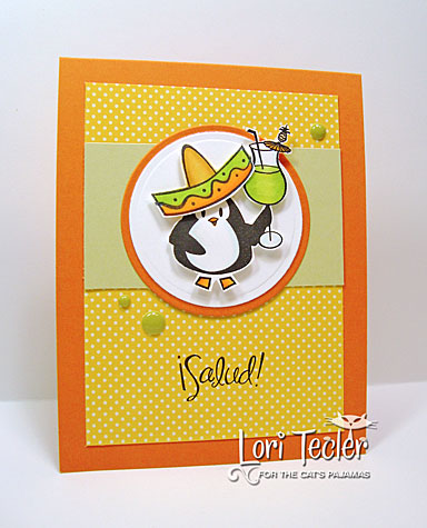 Salud! card-designed by Lori Tecler/Inking Aloud-stamps from The Cat's Pajamas