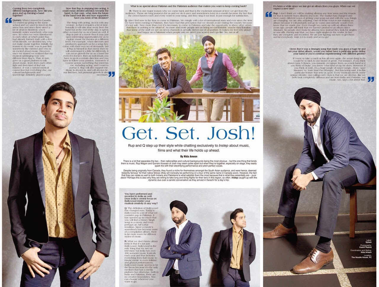Canadian Bhangra duo Josh in Instep Magazine