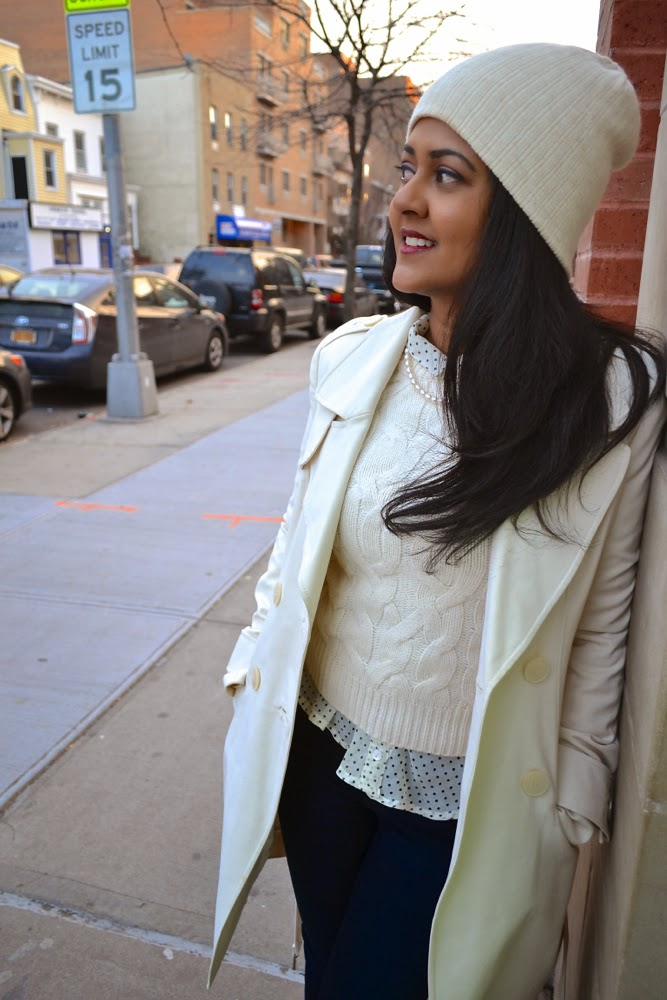marciano sweater coat winter white coat
