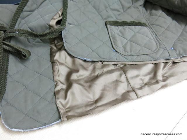como forrar el interior de un abrigo