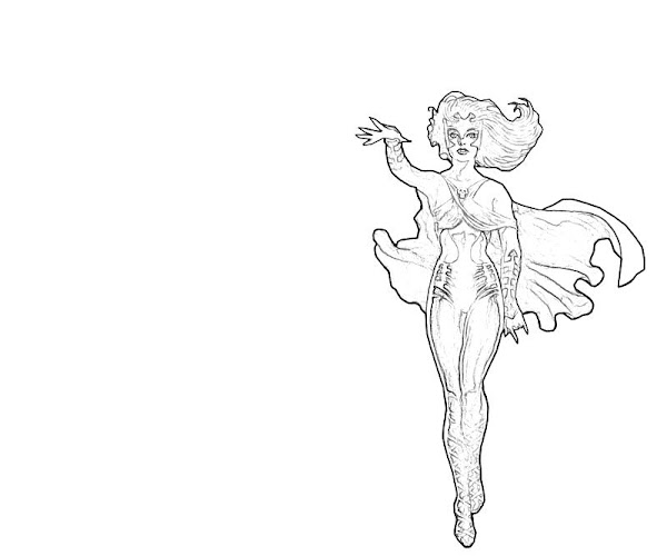 Printable Lorna Dane Look Coloring Pages