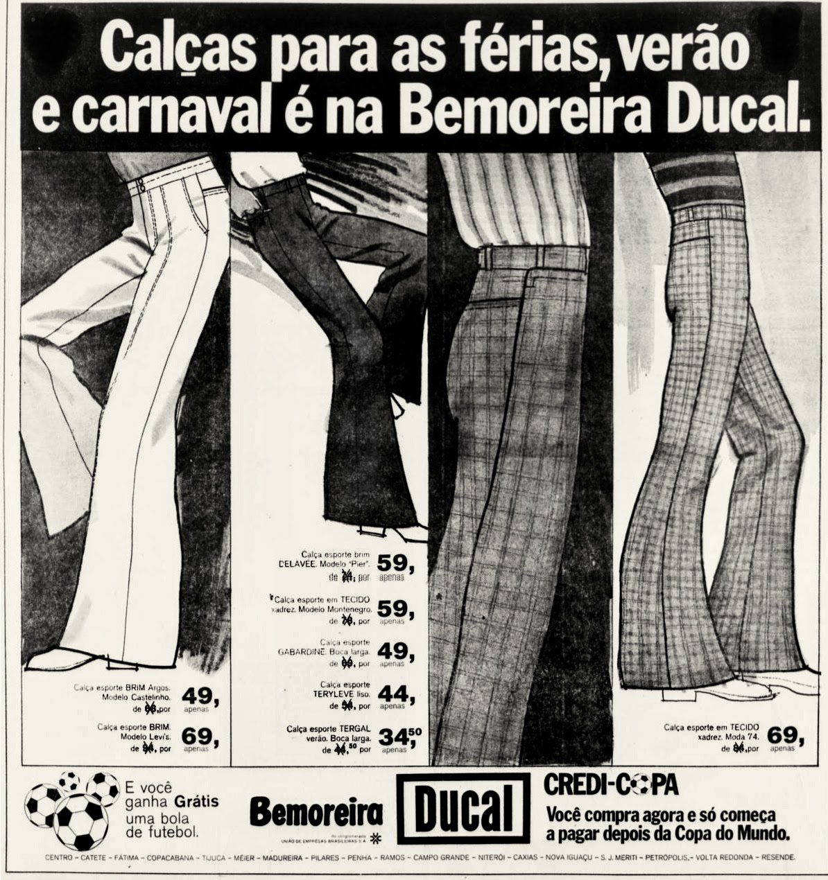nos 70.  1974. década de 70. os anos 70; propaganda na década de 70; Brazil in the 70s, história anos 70; Oswaldo Hernandez;