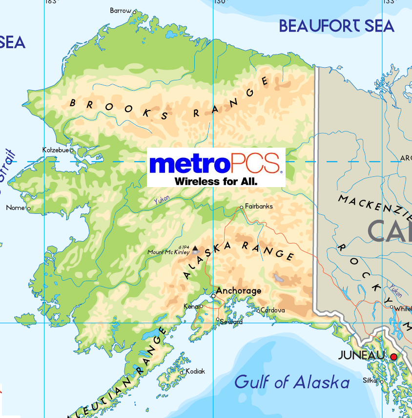 Us Cellular Coverage Map Alaska Images Tracfone Coverage - Metro pcs us coverage map
