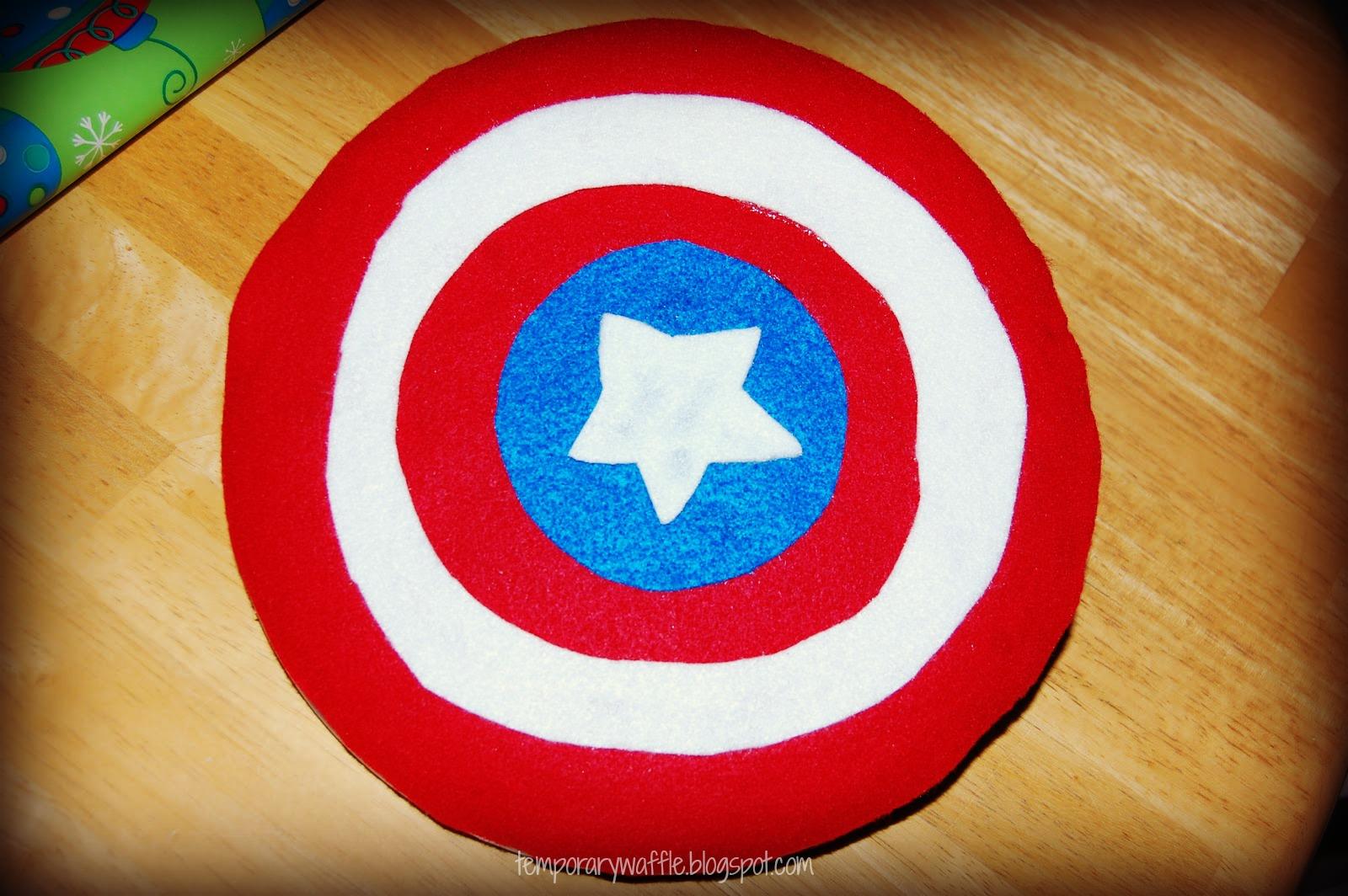 temporary waffle diy captain america shield