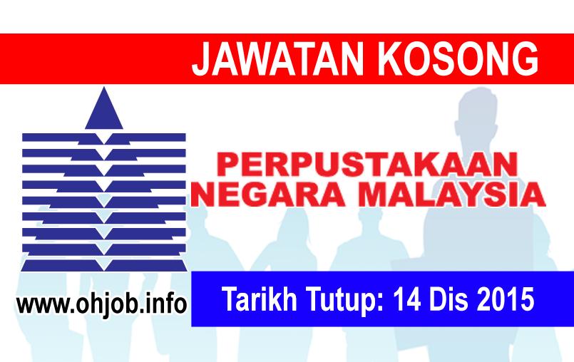 Jawatan Kerja Kosong Perpustakaan Negara Malaysia (PNM) logo www.ohjob.info disember 2015
