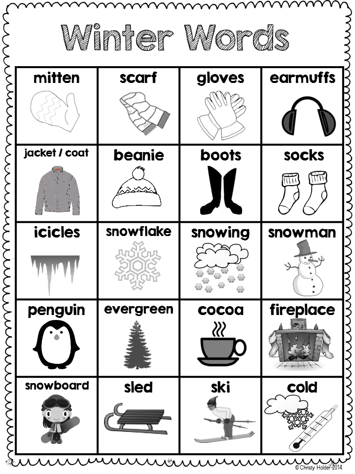 http://www.teacherspayteachers.com/Product/Winter-Word-bank-1056051