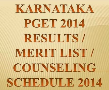 Check Karnataka PGET Results 2014 Merit List,Counseling Schedule at www.kea.kar.nic.in