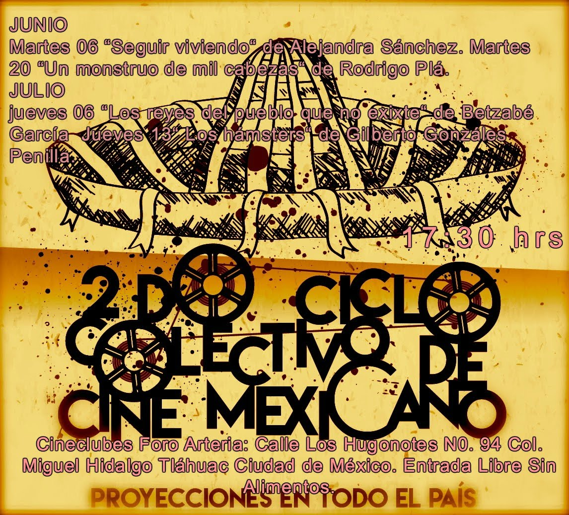 Segundo Ciclo Colectivo de Cine Mexicano . Descarga programa completo