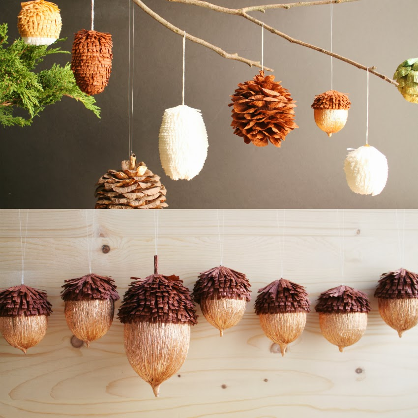 Crepe Paper Woodland Ornaments By Featured Artist Tiffanie