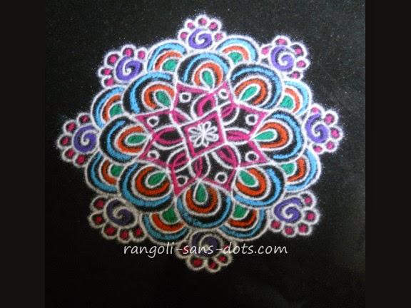 Mandala Pooja Rangoli Mandala Type Free Hand Rangoli