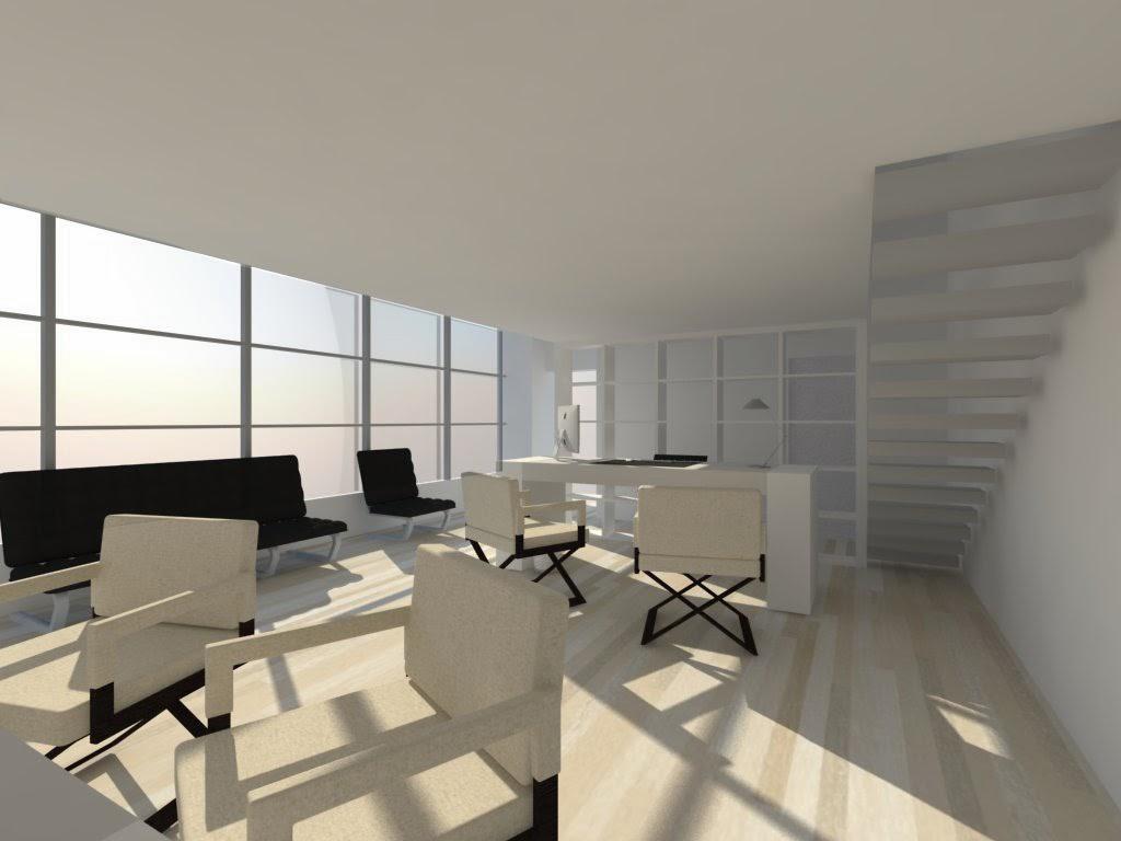 Ufficio dallo stile industriale concept for Ufficio architetto design