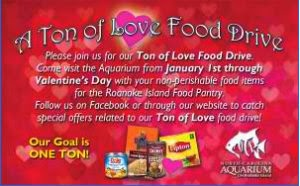 A Ton of Love Food Drive image explaining the details of the event