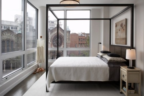 Contemporary Canopy Beds house construction in india: canopy bed - four poster bed