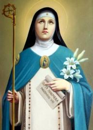 Dibujo de Santa Angela de Foligno