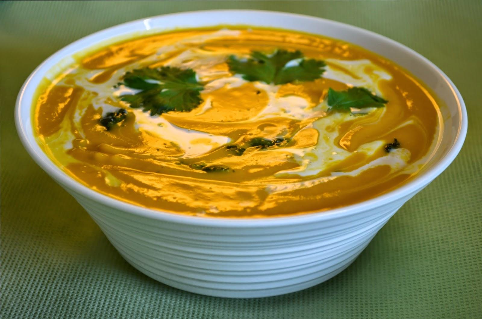 Thai kick pumpkin soup