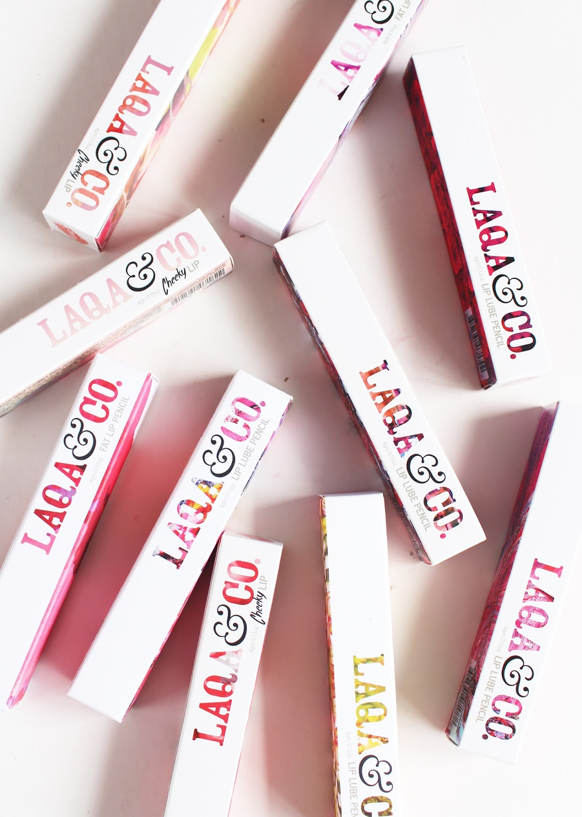 LAQA&CO. | Fat Lip Pencil, Cheeky Lip + Lip Lubes - Review + Swatches - CassandraMyee