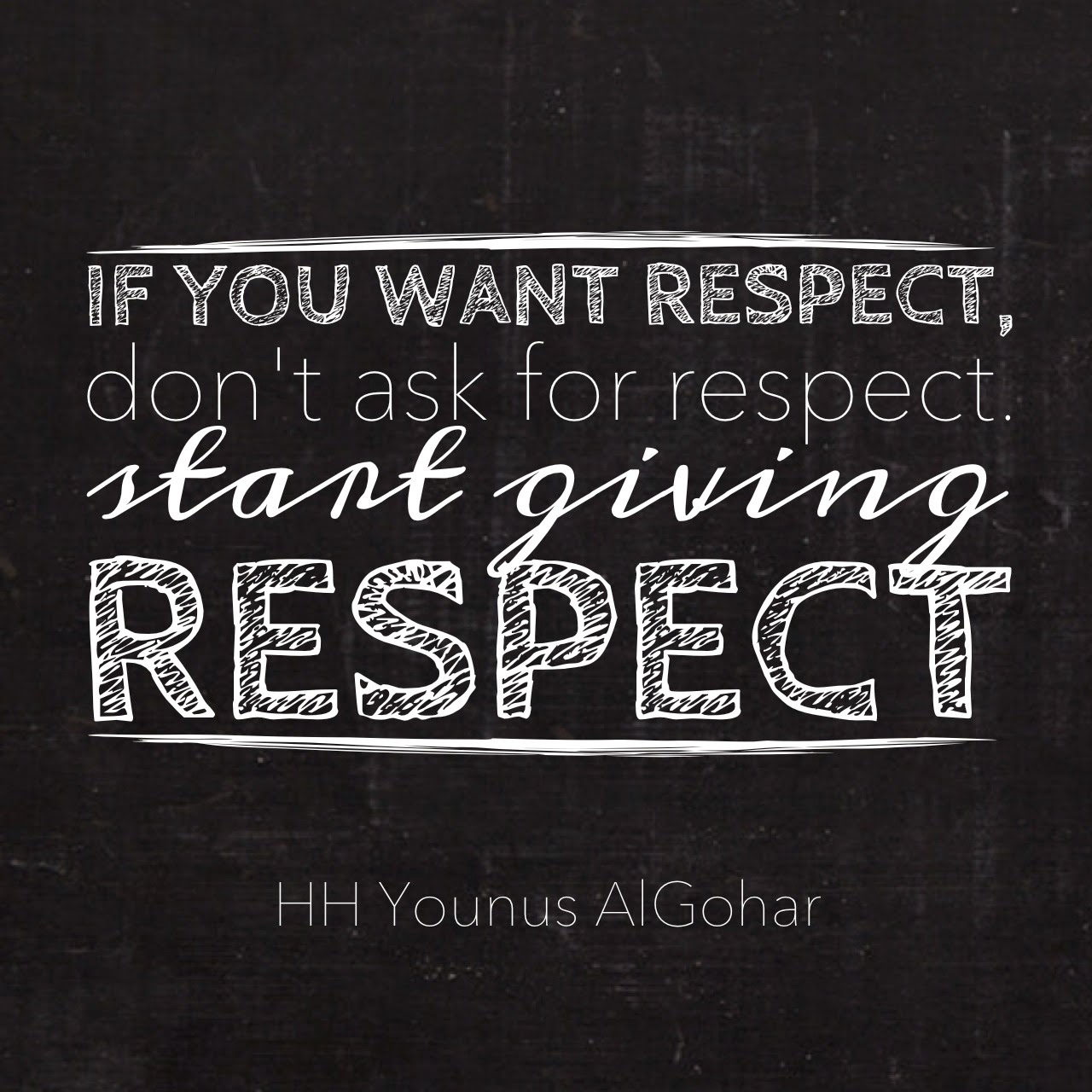 Quote Of The Day The Official Mfi® Blog Quote Of The Day If You Want Respect.