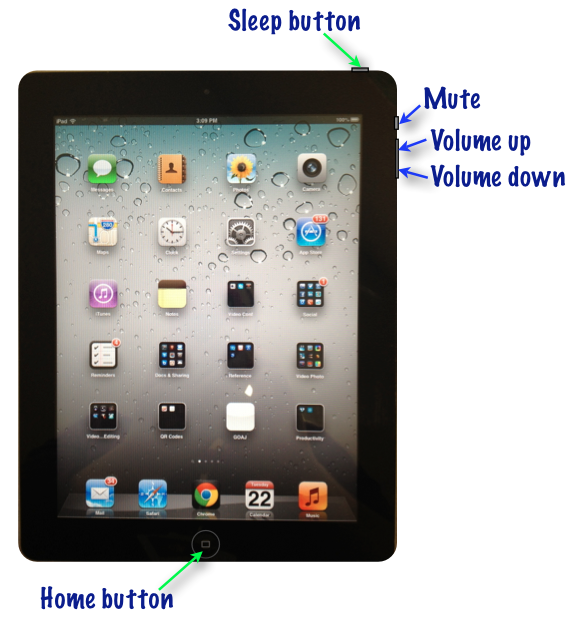 how to put home button on screen ipad