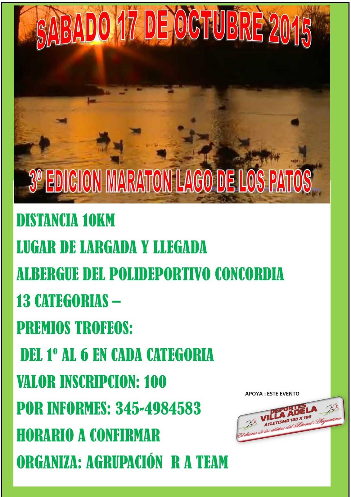 3º edicion Lagos de los Patos 10km  Concordia
