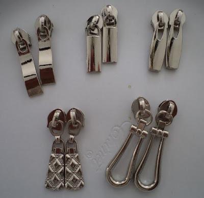 metal alloy zipper pulls