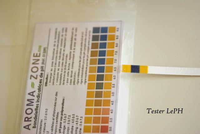 bandellettes aroma-eone pour calculer le PH de ses cosmétiques maison PH 7 PH neutre pour gel nettoyant visage